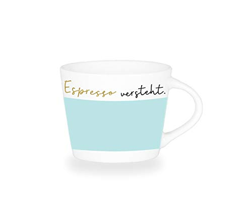 Grafik-Werkstatt Premium - Espresso -Tasse, Schreibkram Manufaktur, Goldveredlung, Espresso versteht