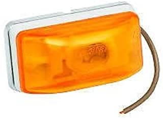 Wesbar Side Marker Light with White Stud-Mount Base, PC Rated