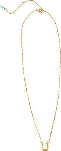 I Love Horses Halskette Glückskette Hufeisen aus Messing Längenverstellbar 46cm