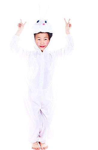 Disfraz de conejo blanco - 5/6 años - disfraces para niños - halloween - carnaval - conejito - conejito - niña - niño - unisex - cosplay - talla xl - idea de regalo bunny cosplay
