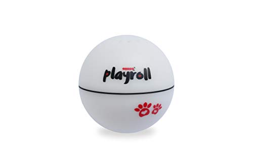 Playroll! Robotic Self Spinning Ball toy for Cats and Dogs- Built in Catnip Chamber to Attract Through Scent- Built In LED Light Adds to the Fun!- Hidden Controls Make It Safe- Auto Sleep Function- Sh