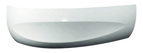 'aquaSu® Schürze zur Acryl-Ovalwanne loPa (links)   150 x 100 cm I Weiß I Bad I Badezimmer