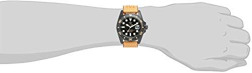 『[HYAKUICHI 101] ヒャクイチ ダイバーズ 20気圧防水 腕時計 ウォッチ レザーベルト ロングタイプ メンズ』の2枚目の画像