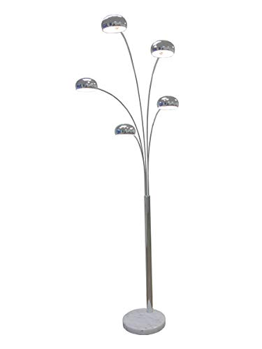 große Five Fingers Bogenlampe, Top Quality, chrom, 220cm hoch, 10151