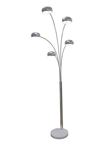 große Five Fingers Bogenlampe, Top Quality, chrom, 220cm hoch, 10151