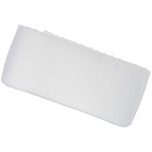 non-brand Nastro a Maglia Elastica Treccia di Crinolina Zanzariera per Windows Porte Veli Accessori Cappelli 25 Cantieri - Bianca