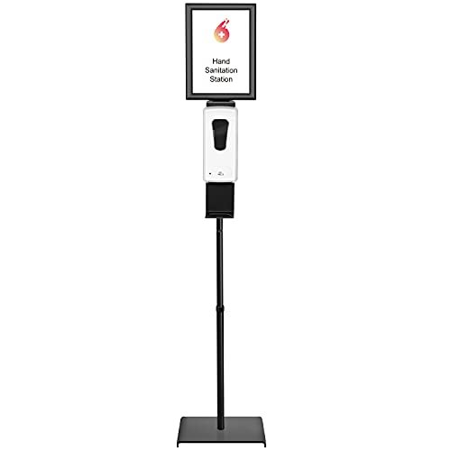Automatic Hand Sanitizer Dispenser with Adjustable Stand & Detachable Sign Board & Refillable Inner Bottle, Touchless Sanitizing Stations, Ideal for HomeAll Public Places