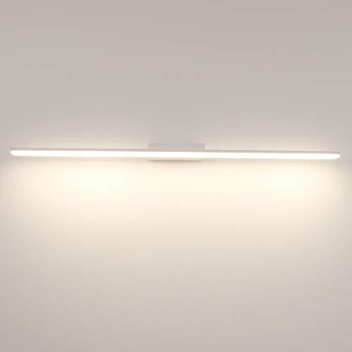 Klighten Spiegelleuchte,24W,900mm,IP44, Neutralweiß, Spiegelschrank Leuchte,Wandleuchte/Schminklicht für Badezimmer,Aluminum,Weiß