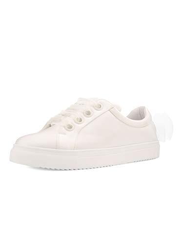Braut Satin Sneaker Emily Brautschuhe Availia Bridal 36-40 Schuhe Ivory Schleife Schuhe Satin (38 EU)