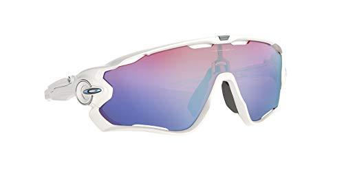 Oakley Men's OO9290 Jawbreaker Sunglasses, Polished White/Prizm Sapphire Snow, 31 mm