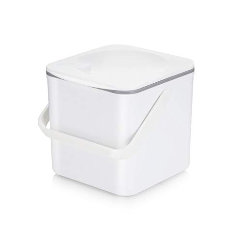 Save %29 Now! Minky Homecare Food Compost Caddy, White