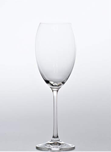 Crystalex Bohemia Crystal Classical Collection Grandioso Set of 2 Wine Glasses 15.2 ounce (450ml)