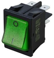 Best Price Square Rocker Switch, 20A, Green, DP, Off-ON SX8211881E110000 by MOLVENO