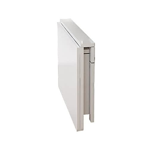YAHAO Tablas de hojas para espacios pequeños, madera maciza blanca plegable mesa de comedor pequeño apartamento hogar simple cocina telescópica consola invisible, 70 x 40 cm