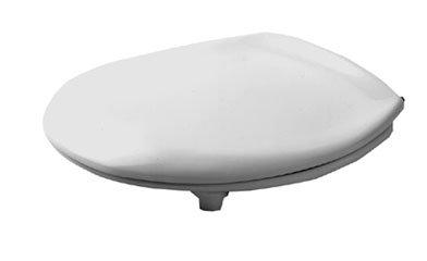 Duravit Architec avec Tampon Angle 0062810000 Abattant WC avec Charnières en Acier Inoxydable Blanc