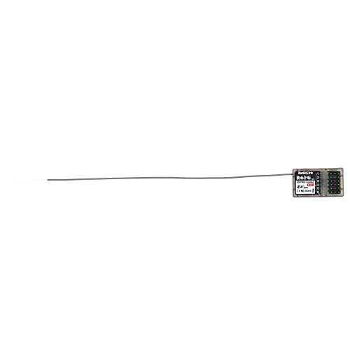 Radiolink FHSS R6FG 6CH 2.4GHz Empfänger mit integriertem Gyro für RC Car Boat Black
