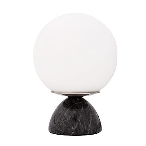 Pauleen Shining Pearl 48192 - Lámpara de mesa (20 W, E14), color negro y blanco