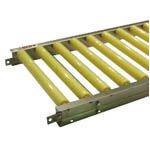セントラルコンベヤー 樹脂ローラコンベヤ JRBU5012型500W×100P×1000L JRBU5012-501010 [A170105]