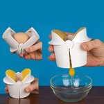 Ingenious Egg Cracker Kitchen Tool - Easily Separate an Egg from Its Shell