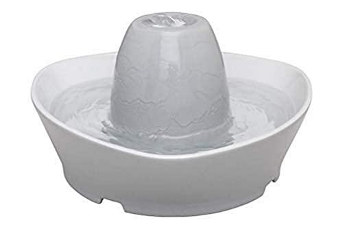 PetSafe Fontana Ruscello per Animali Domestici in Ceramica, capacità di 1,8 L d'Acqua, Design Silenzioso, Acqua Filtrata, Stimola Gli Animali a Bere di più - 4 unità