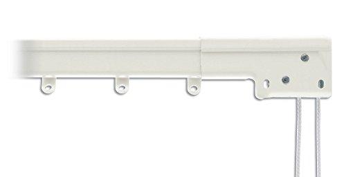 Graber Super Heavy Duty Traverse Curtain Rod 48-84 Inch, White (Center Draw)