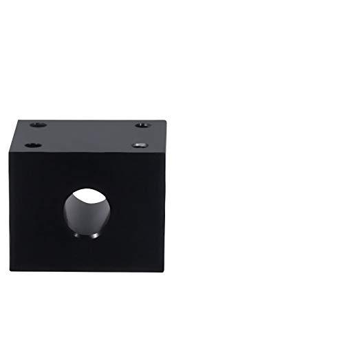 WITHOUT BRAND 1pc Nut Gehäusehalter 8mm T8 Trapezgewinde Conversion Mutter Sitz Aluminium Block 15 3D-Druckteile (Größe : Schwarz)