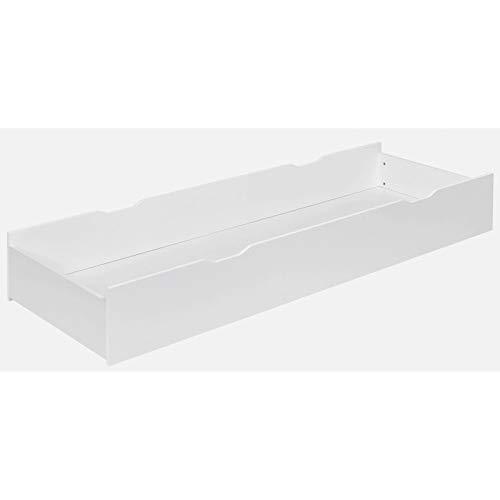 Alfred & Compagnie Tiroir de lit blanc 65x190 pour lit 140/160 29cm sous pan