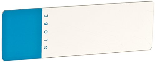 Globe Scientific 1324B Glass Microscope Slide, 25 x 75mm Size, Ground Edges with Safety Corners, Blue Frosted (1,440 slides)