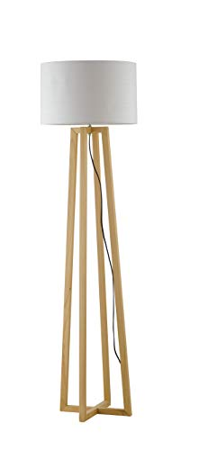 InHouse srls Lámpara de pie Berry, mesa y Floor Lamp, color madera cerezo, 60 W, med. 35 x 165 cm.