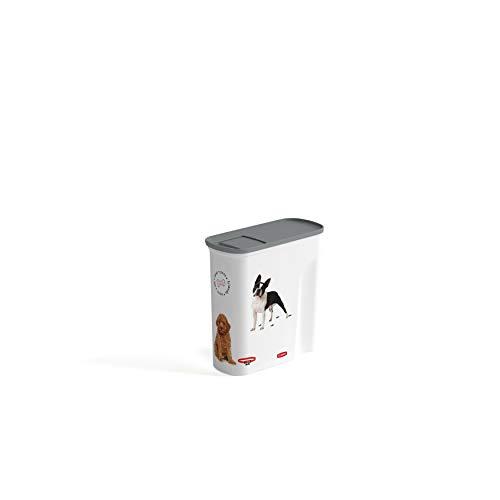 CURVER   Verseuse 6L/2.5Kg - Love pets - Chiens, Blanc, Pet dry food container, 27,8x11,8x27,9 cm
