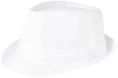 eBuyGB Sombrero Panamá Unisex para Adulto, Talla única, Unisex, 1289806, Blanco, Talla única