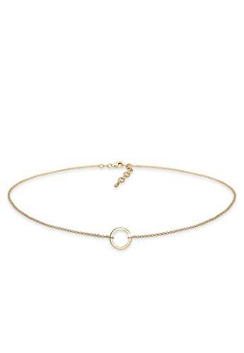 Elli Halskette Damen Choker Kreis Trend Geo in 925 Sterling Silber
