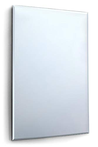 5Ft X 3Ft Large Bevelled Mirror Glass 152cm X91cm Home Gym Or Bathroom 4mm Thick