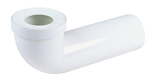 pipe longue pour wc - diamètre 100 mm - longueur 350 mm - nicoll 1pipunic
