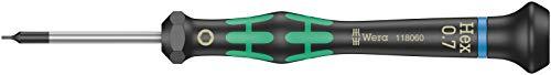 2054 Destornillador hexagonal para usos electrónicos, Hex-Plus, 0.7 x 40 mm