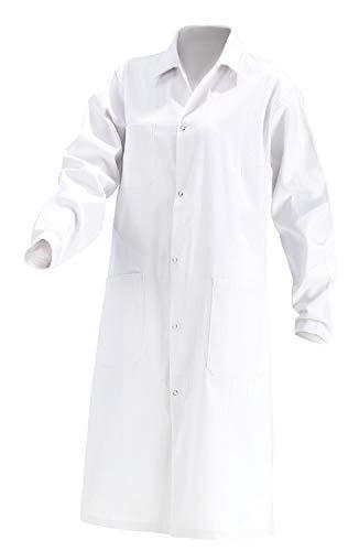 KOKOTT Bata de Laboratorio para Hombres y Mujeres,Hecho de 100% algodón, Adecuado para el Trabajo en el Laboratorio y en Medicina, Estudiantes,Lavable a 90 ° C (62, Caballeros)