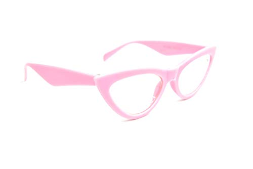 Fads & Fashions Ojos de Gato Gafas de Lectura Elegante Retro 1950,60 ' S Mujer Moda 5 Colores DX24 - Rosa