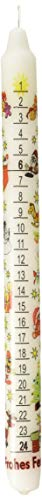 Alexander Taron 5001W German Countdown Tradition Winter White Wax Christmas Advent Candle,Gray,12 inch