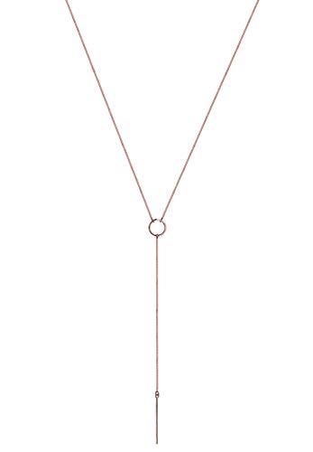 Elli Women 925 Silver Silver Y-Shaped Necklace - 60cm length