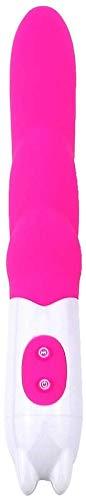 Dodo AiAi tragbare, elektrische, leistungsstarke Massagestange aus Kieselgel für erwachsene Damen, für Partner, Geschenke, Yogamatten, T-Shirt, Dodo AiAi (Farbe: Rose)