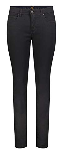 MAC JEANS Damen Skinny Jeans Dream, Black-black, 44W / 34L