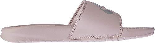 Nike Wmns Benassi JDI, Sandalias de Talón Abierto para Mujer, Multicolor Particle Rose Metallic Silver 614, 43 EU