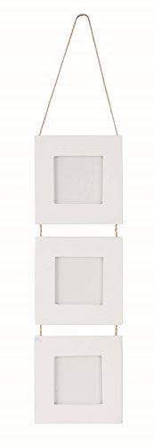 Occasions Direct - Cornice portafoto in cartone a 3 vani, 7,5 x 7,5 cm, colore: bianco