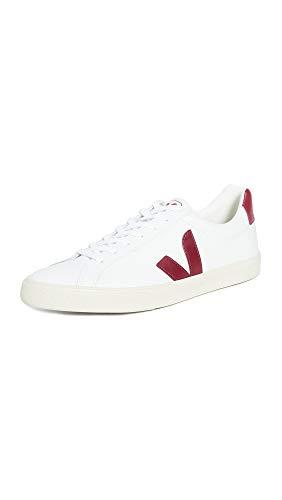 Veja Herren Esplar Logo Sneaker, Weiß (Extraweiß/Marsala), 45 EU