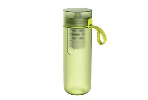 Phillips - Botella Filtro de Agua Go Zero Active, Modelo Adventure, Elimina el cloro y mejora el sabor, Libre de BPA, 600 ml, Verde Lima (AWP2722LIR)