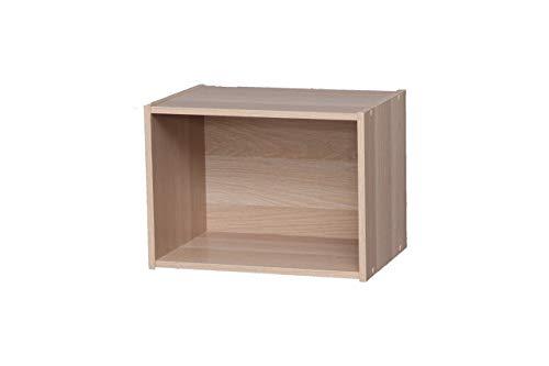 Marchio Amazon - Movian Libreria cubo con 1 ripiano in MDF, Beige, 41,5 x 29 x 30,5 cm