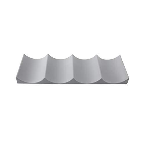 Yardwe Europäischen Stil weinregal Kunststoff weinflasche stapelmatte können einfach Stacker küchenschrank kühlschrank lagerregal (Zufällige Farbe