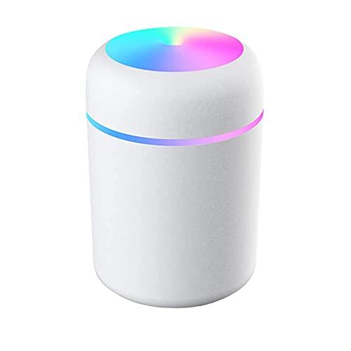 Umidificatore Mini,Umidificatore Portatile Alimentato Tramite USB da 300 ml, Funzionamento Ultrasuoni Silenzioso, Spegnimento Automatico e Funzione Luce Notturna,per Casa/Ufficio/Camera da Letto