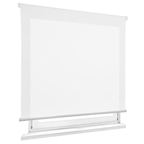 HOME MERCURY - Estor Enrollable translúcido Liso (120x180 cm, Blanco)