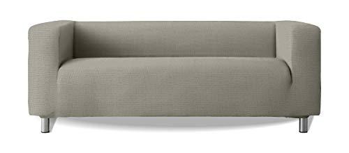 Sofabezug Modell Klippan Sofa Arme hoch weiches elastisches Stoff New York - Farbe 21 Hellgrau